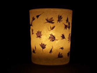 Windlicht Kornblumen