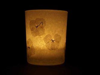 Windlicht Hortensien gross