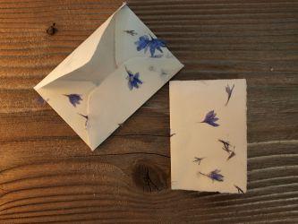 Mini Kärtchen und Kuvert Kornblumen