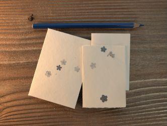 Mini Kärtchen und Kuvert Vergissmeinnicht