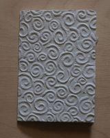 Handgeschöpfte Doppelkarte Spirale geprägt