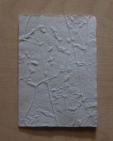 Handgeschöpfte Doppelkarte Kerbel geprägt