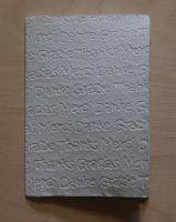 Handgeschöpfte Doppelkarte Danke geprägt