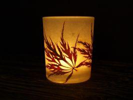 Windlicht Ahornblatt